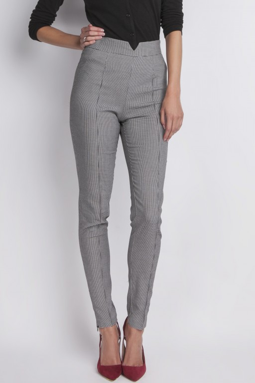 High waist trousers, pattern