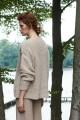 Wełniany, oversizowy sweter, beżowy