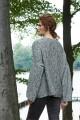 Oversizowy sweter melanżowy, szary