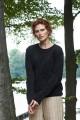 Wełniany sweter w warkocze, czarny