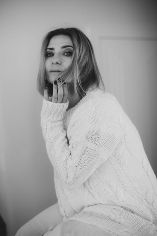 Długi sweter/ sukienka w arany, écru