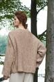 Oversizowy sweter melanżowy, beż