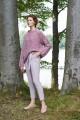 Oversizowy sweter melanżowy, różowy