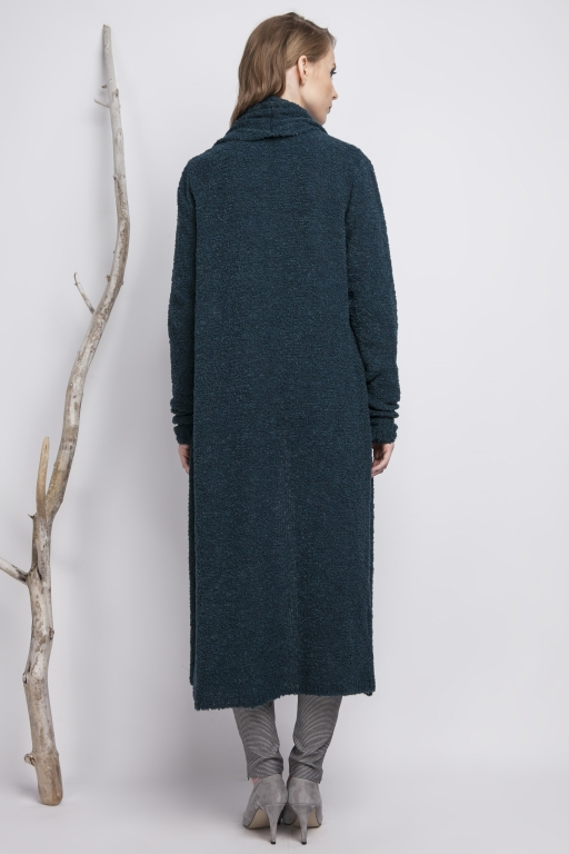 Oversize Bouclé coat,  turquoise
