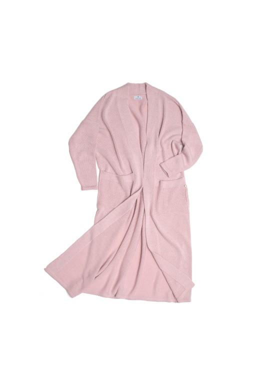 Płaszcz z kieszeniami, różowy