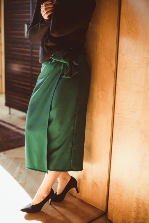 Wiązana spódnica, zielona