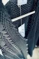 Bawełniany kardigan z guzikami, czarny
