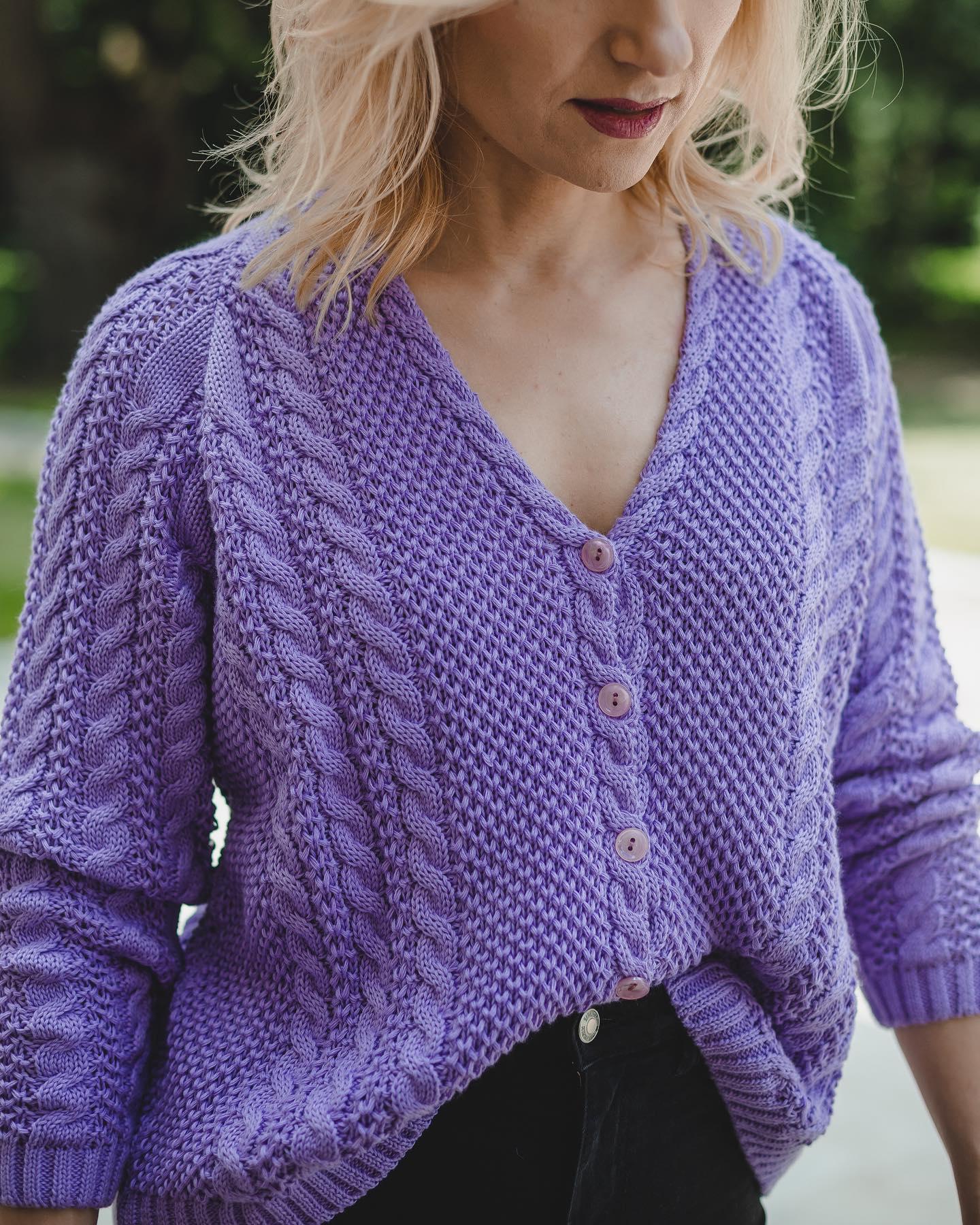 Lawendowe dzień dobry 💜💜💜 #BienkovskaLavender #cotton #knit