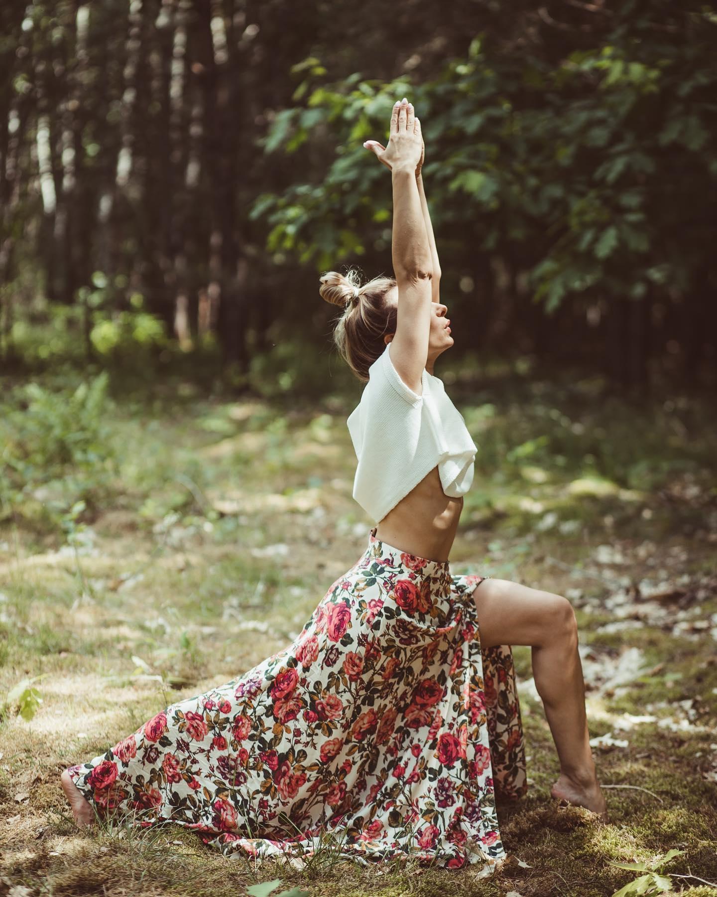 Spódnica i top do zadań specjalnych… Co powicie na jogę w stylu boho…?